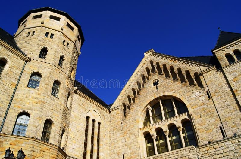 Castello degli imperatori a Poznan immagini stock libere da diritti