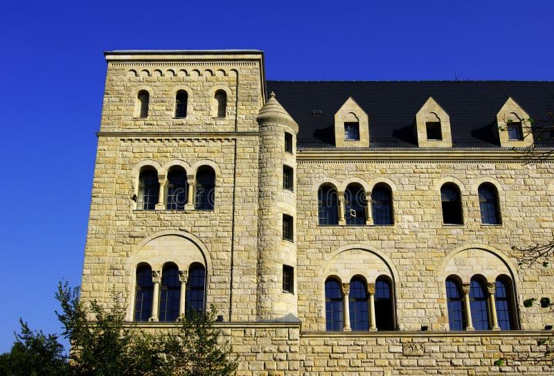 Castello degli imperatori a Poznan fotografie stock libere da diritti