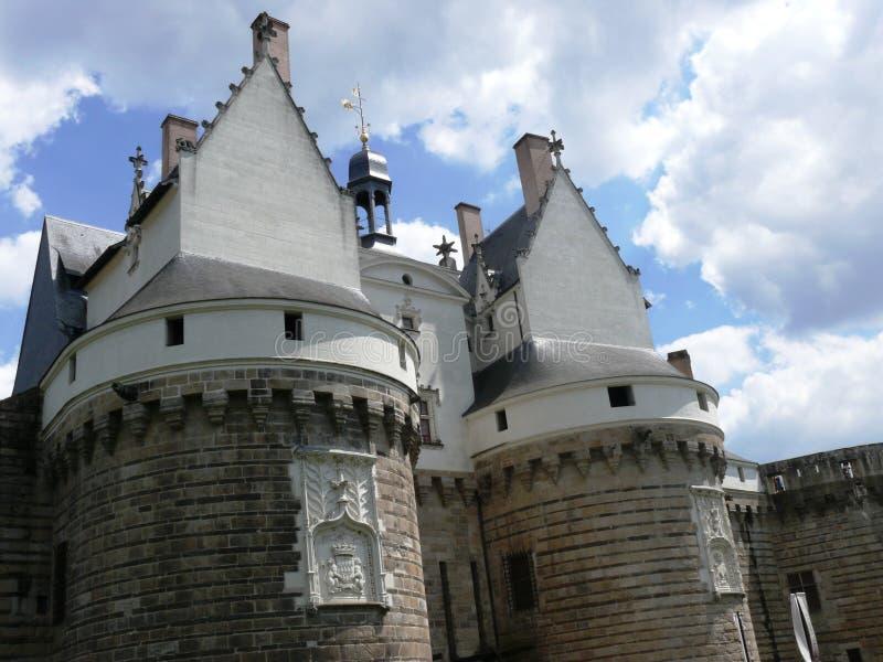 Castello dei duchi di Bretagna a Nantes immagini stock libere da diritti