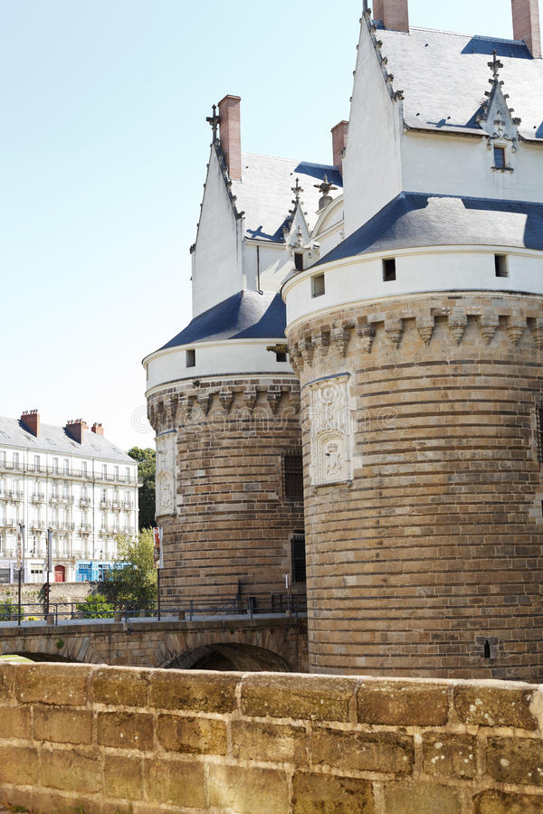 Castello dei duchi di Bretagna a Nantes, Francia immagine stock