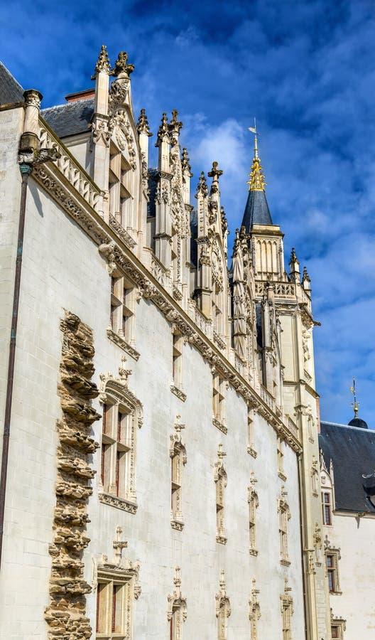 Castello dei duchi di Bretagna a Nantes, Francia fotografie stock