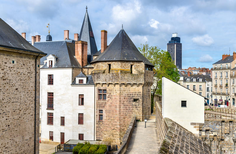 Castello dei duchi di Bretagna a Nantes, Francia immagini stock libere da diritti
