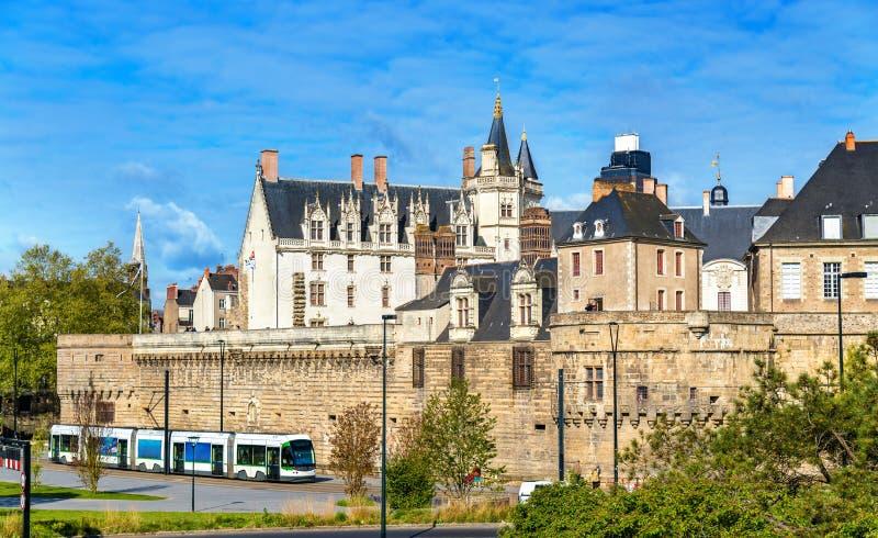 Castello dei duchi di Bretagna a Nantes, Francia fotografia stock libera da diritti