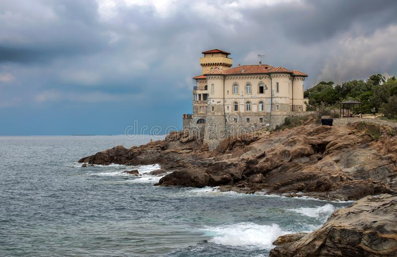 Castello del Boccale, Livorno, Tuscany, Italy. Europe. The Boccale castle is a large manor that rises up in Livorno, south of the Antignano district, along the stock images