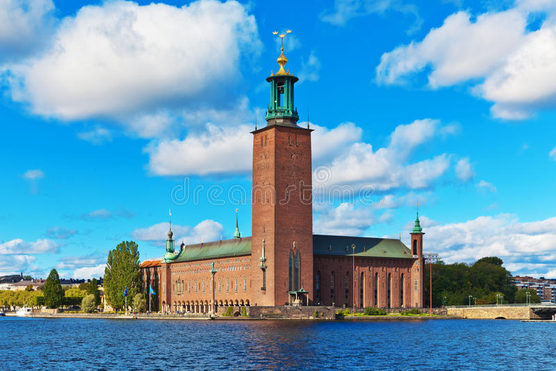 Castello del corridoio di città a Stoccolma, Svezia fotografia stock libera da diritti