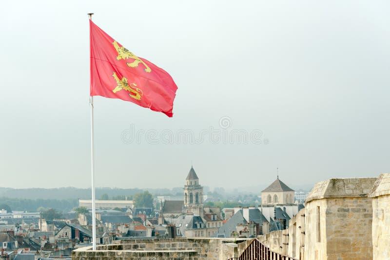 Castello del de Caen Caen del castello fotografia stock libera da diritti