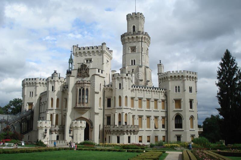 Castello del ¡ di Hlubokà fotografie stock libere da diritti