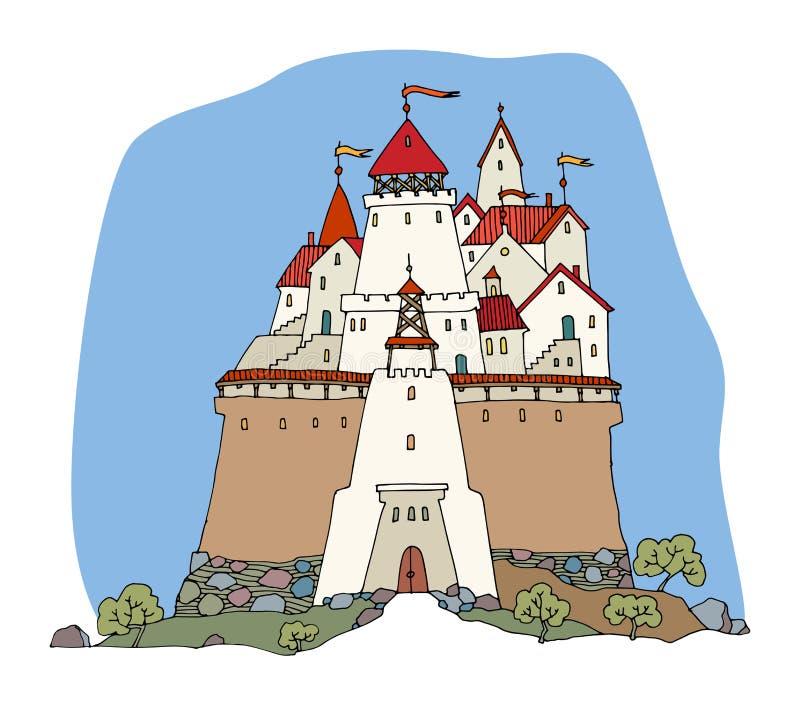 Castello del fumetto illustrazione di stock