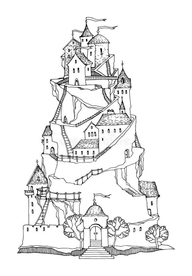 Castello del fumetto illustrazione vettoriale