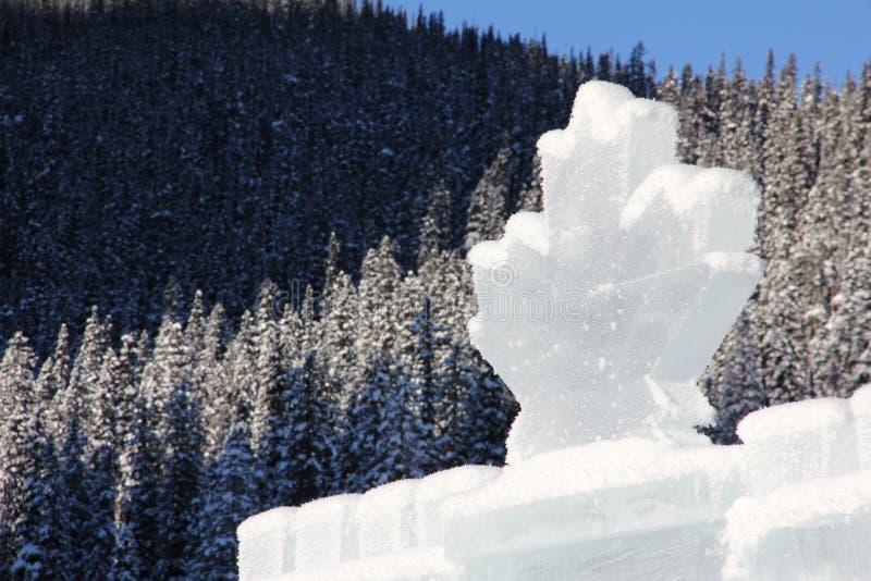 Castello del ghiaccio nelle Montagne Rocciose canadesi fotografia stock libera da diritti