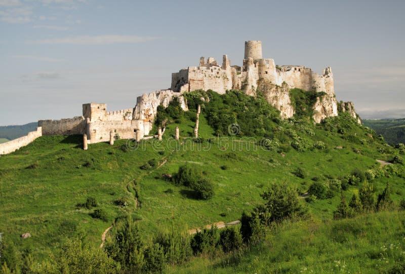 Castello del hrad di Spissky immagini stock libere da diritti