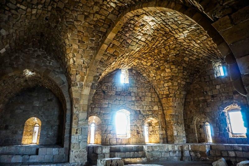 Castello 11 del mare dei crociati di Sidon immagine stock libera da diritti