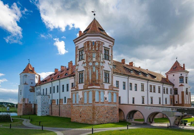 Castello del MIR, Bielorussia fotografia stock libera da diritti