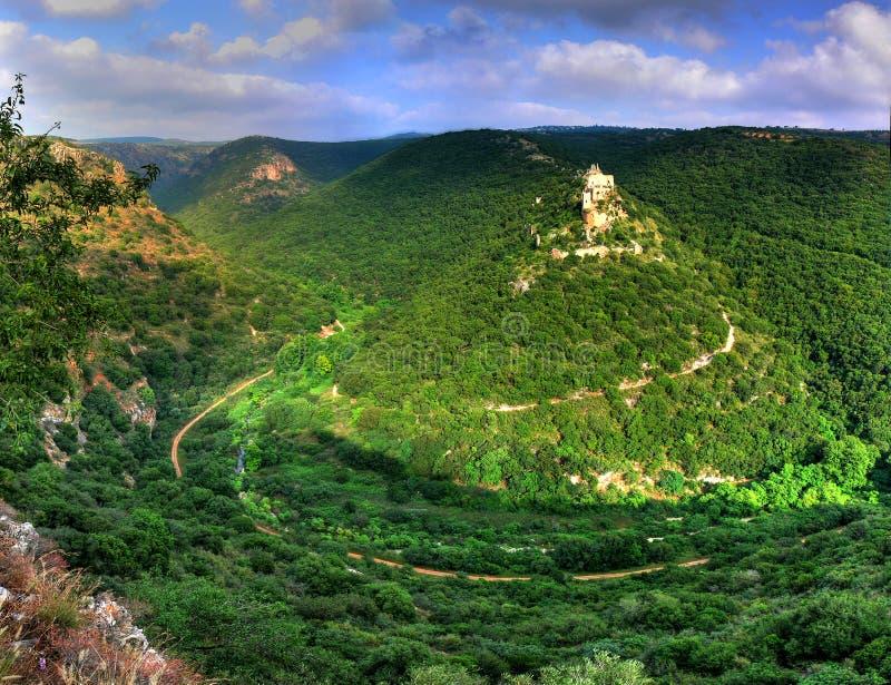 Castello del Monfort, Israele fotografie stock