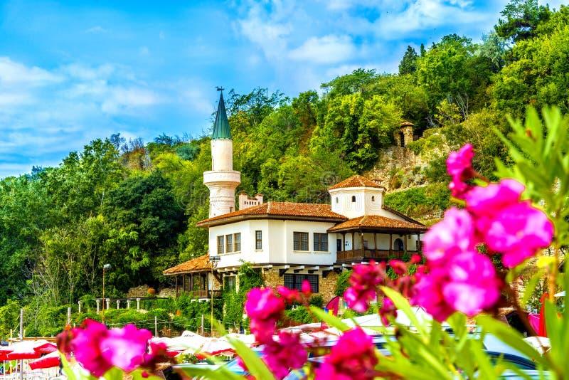 Castello del palazzo di Balchik immagini stock libere da diritti