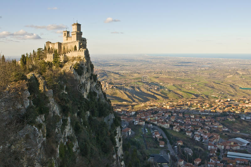 Castello del San Marino fotografie stock