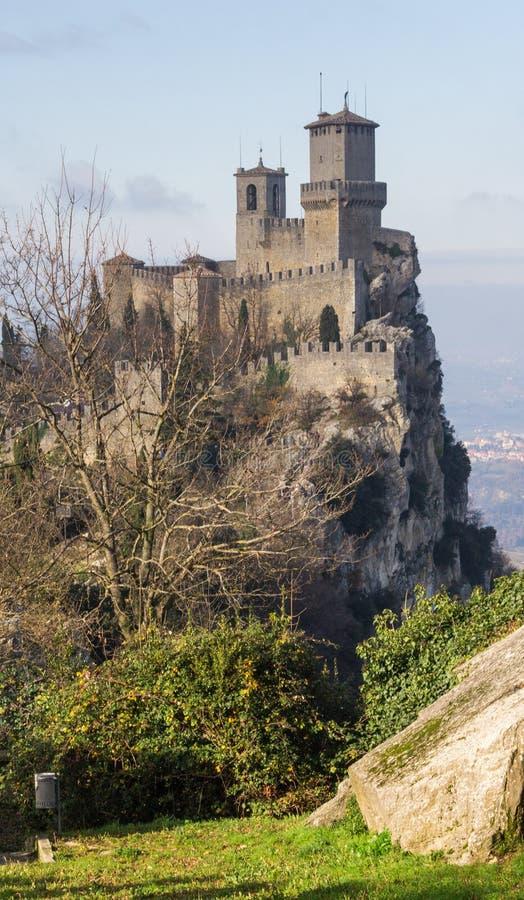 Castello del San Marino immagini stock libere da diritti