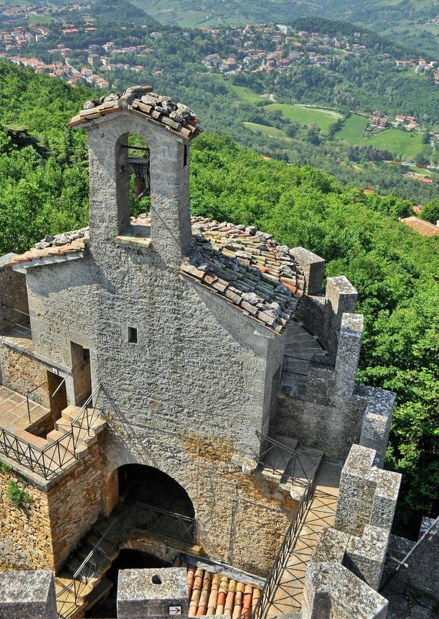 Castello del San Marino fotografie stock libere da diritti