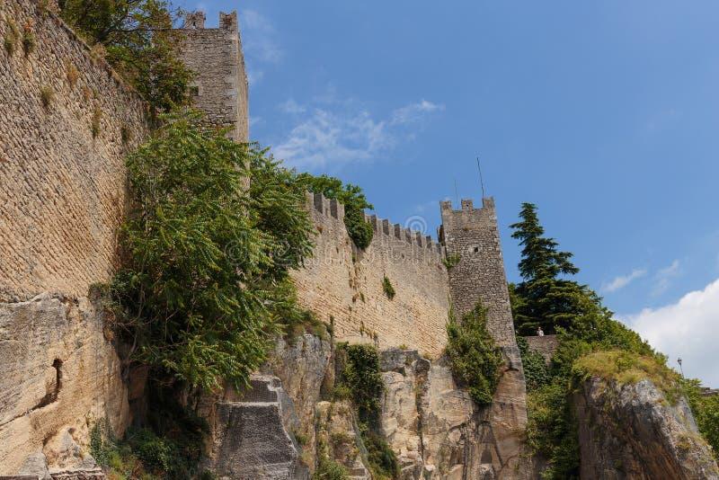 Castello del San Marino immagine stock