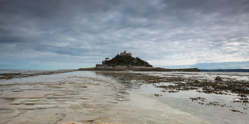 Castello del supporto del ` s di St Michael - vista panoramica immagini stock