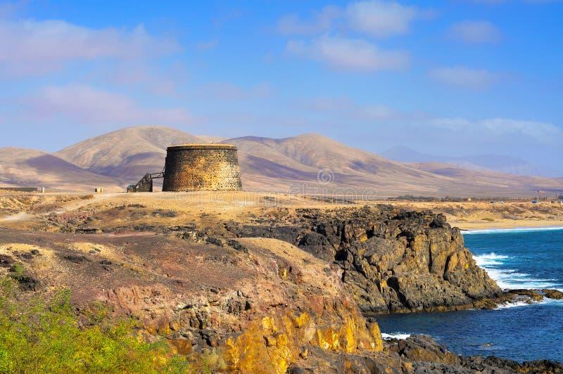 Castello del Torre del Toston in EL Cotillo immagini stock