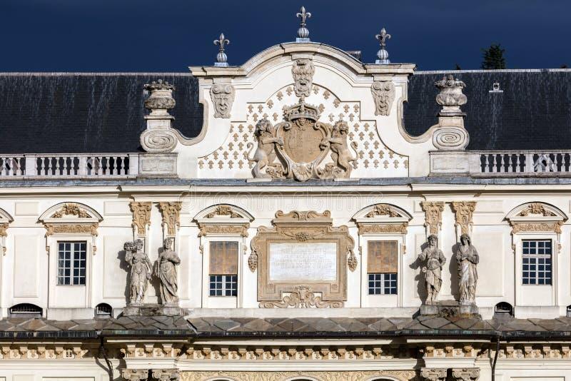 Castello del Valentino em Turin, Itália fotos de stock royalty free