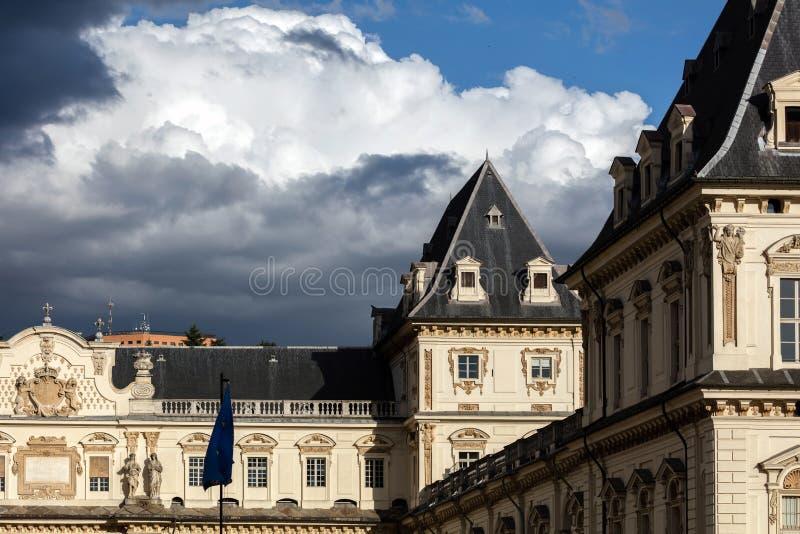 Castello del Valentino em Turin, Itália fotos de stock