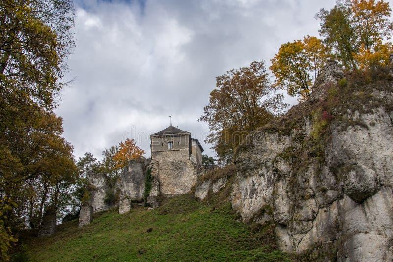 Castello del ³ w di Ojcà immagine stock
