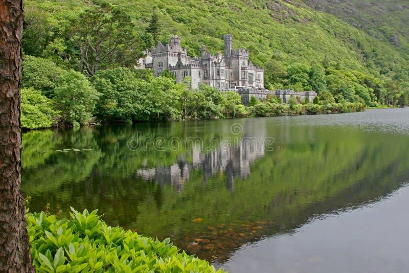 Castello dell'abbazia di Kylemore fotografia stock libera da diritti