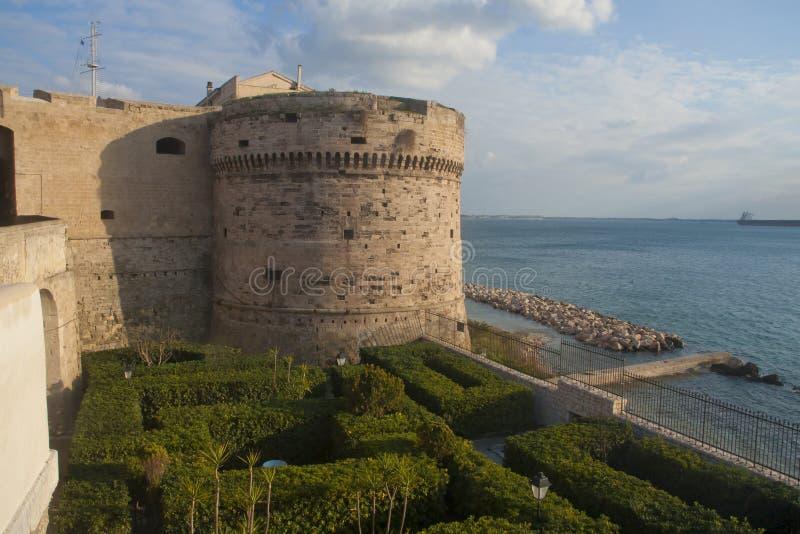 Castello dell'Aragona a Taranto, Italia fotografia stock libera da diritti