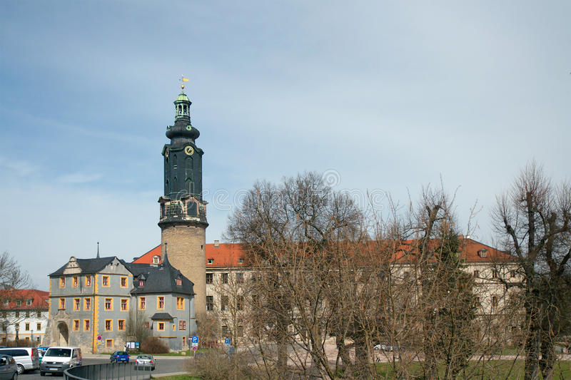 Castello della città di Weimar immagine stock