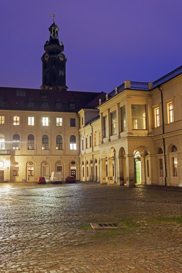 Castello della città a Weimar fotografia stock libera da diritti