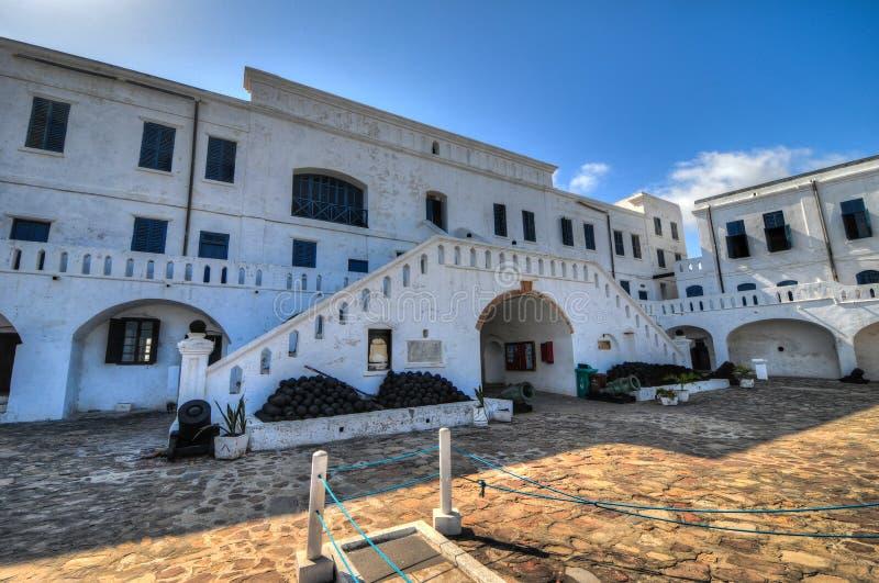 Castello della costa del capo - Ghana fotografia stock libera da diritti