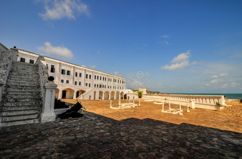 Castello della costa del capo - Ghana fotografia stock