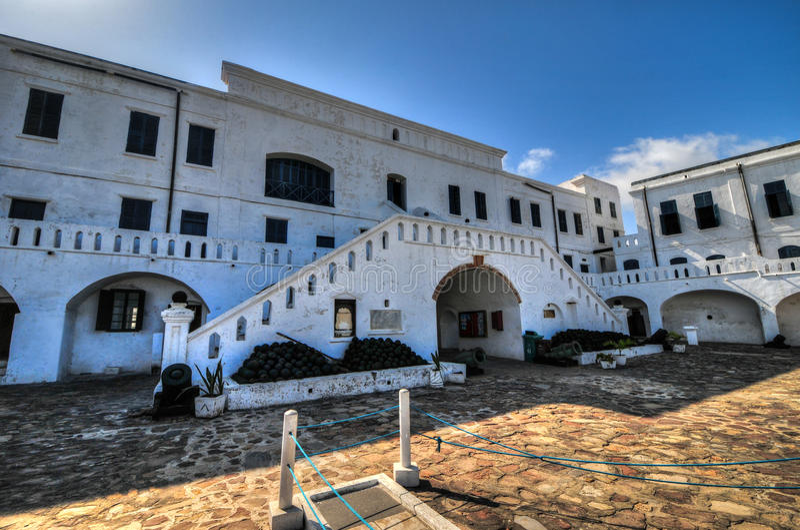 Castello della costa del capo - Ghana fotografie stock libere da diritti