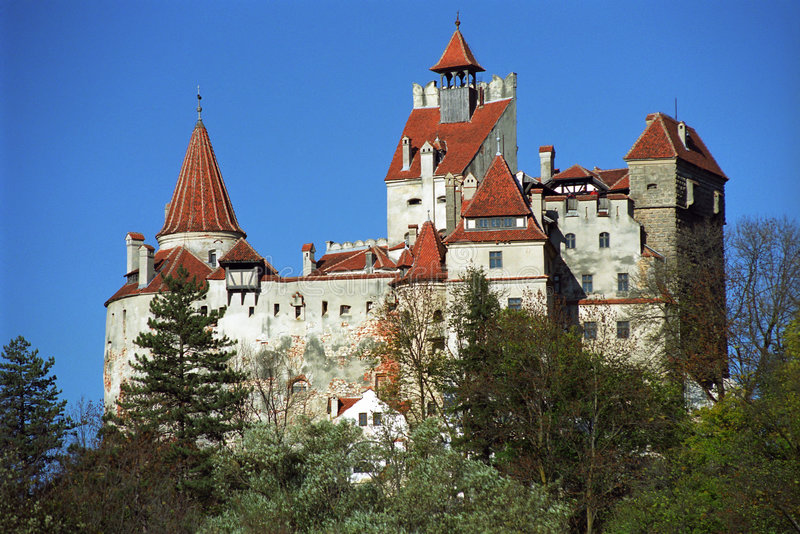 Castello della crusca - castello del Dracula immagini stock libere da diritti