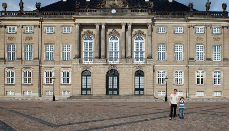 Castello della Danimarca Copenhaghen Amalienborg del palazzo della regina immagine stock