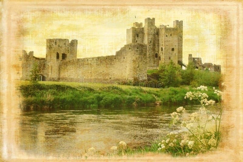 Castello della disposizione cornice l'irlanda immagini stock libere da diritti