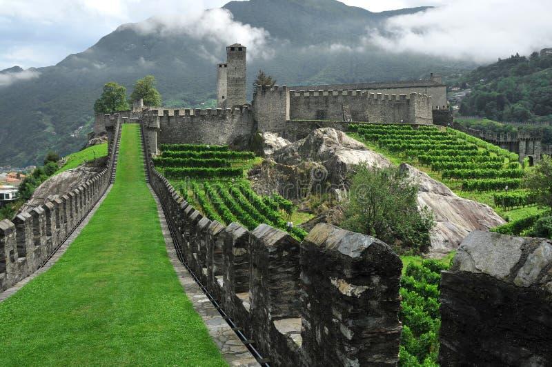 Castello della montagna fotografie stock