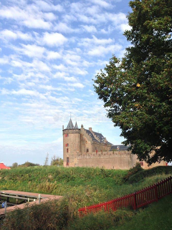 Castello della scanalatura di Muider fotografie stock libere da diritti