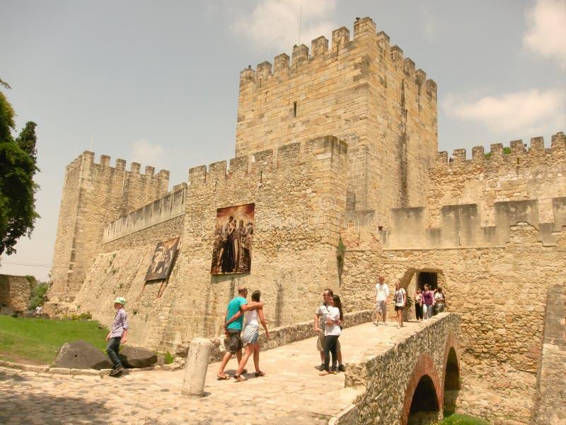 Castello della st Georges, Lisbona fotografia stock libera da diritti