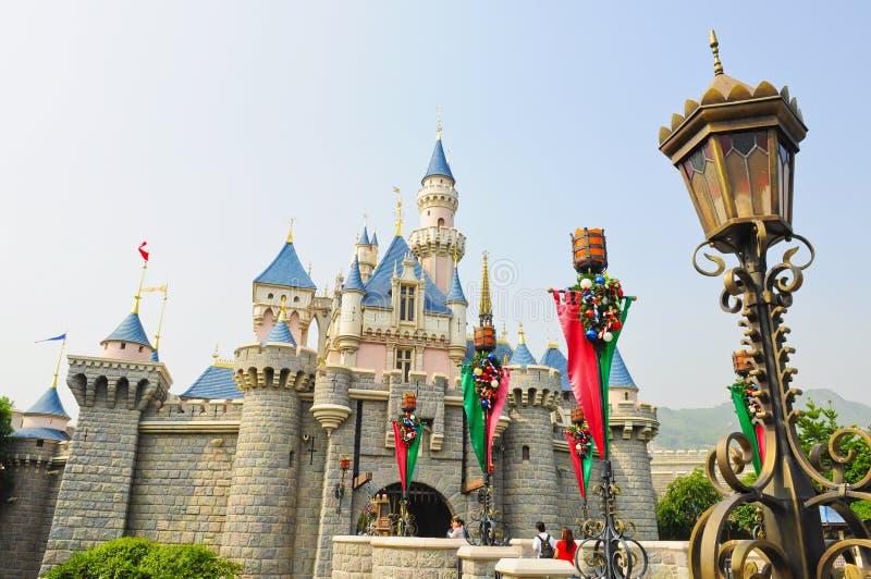 Castello dello sbarco del Disney fotografie stock libere da diritti