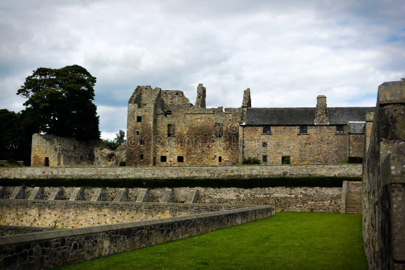 Castello di Aberdour fotografie stock libere da diritti