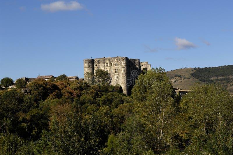 Castello di Alba la Romaine, Rhone-Alpes, Ardeche, Francia fotografia stock libera da diritti