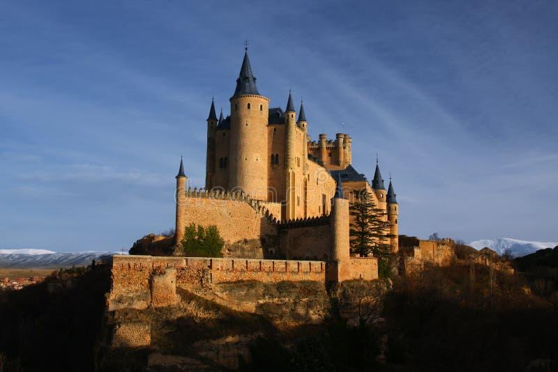 Castello di Alcazar a Segovia, spagna fotografie stock libere da diritti