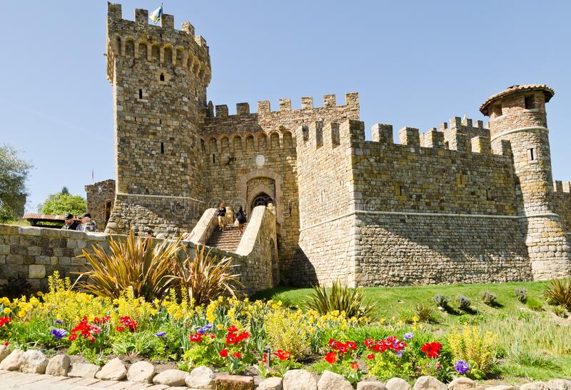Castello di Amorosa in Napa Valley Kalifornien stockbilder