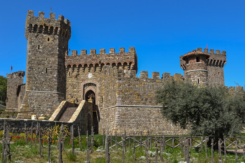 Castello di Amorosa Winery, Napa Valley photo libre de droits