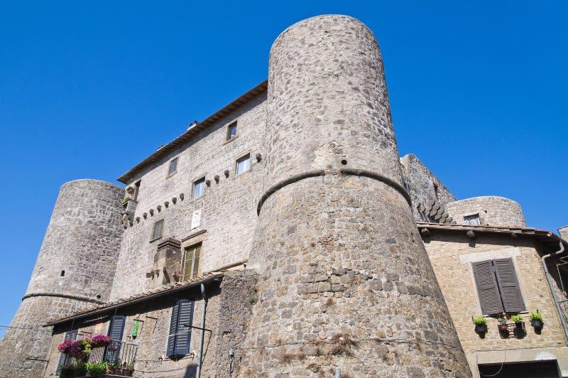 Castello di Anguillara. Ronciglione. Il Lazio. L'Italia. fotografia stock libera da diritti