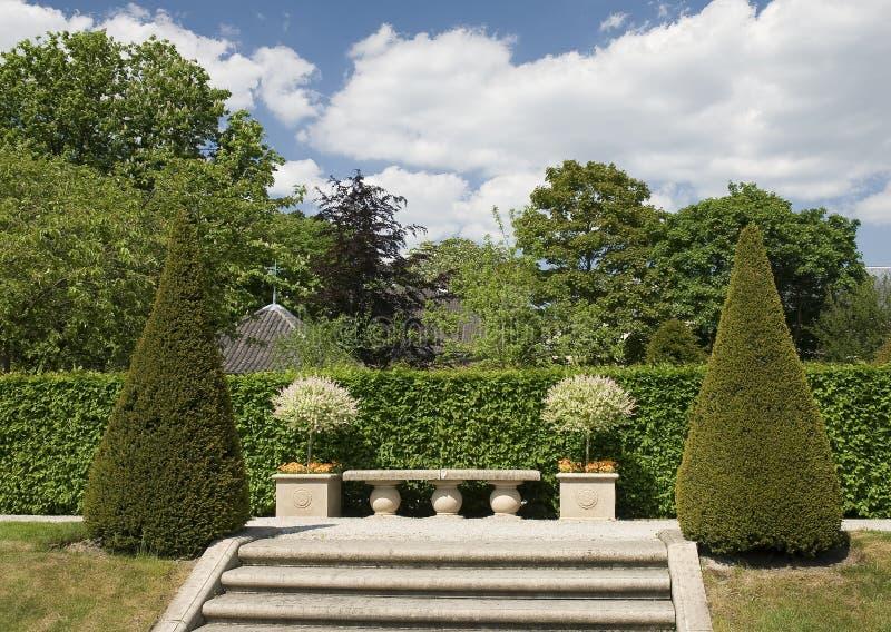 Castello di Arcen - giardini di modello fotografie stock