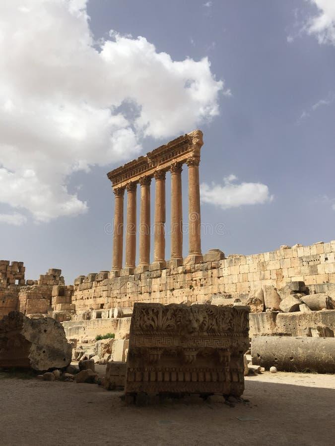 Castello di Baalbak immagini stock libere da diritti